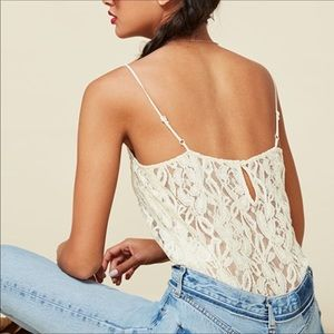 Reformation lace top